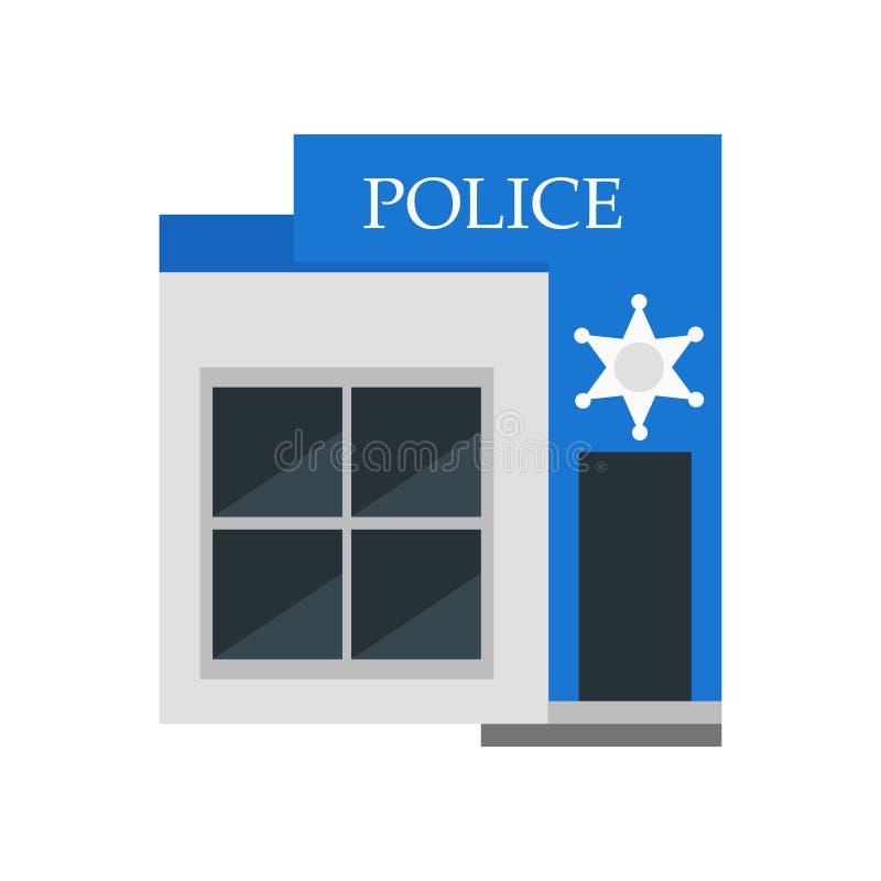 Tecken och symbol för polissymbolsvektor som isoleras på vit bakgrund, polislogobegrepp royaltyfri illustrationer