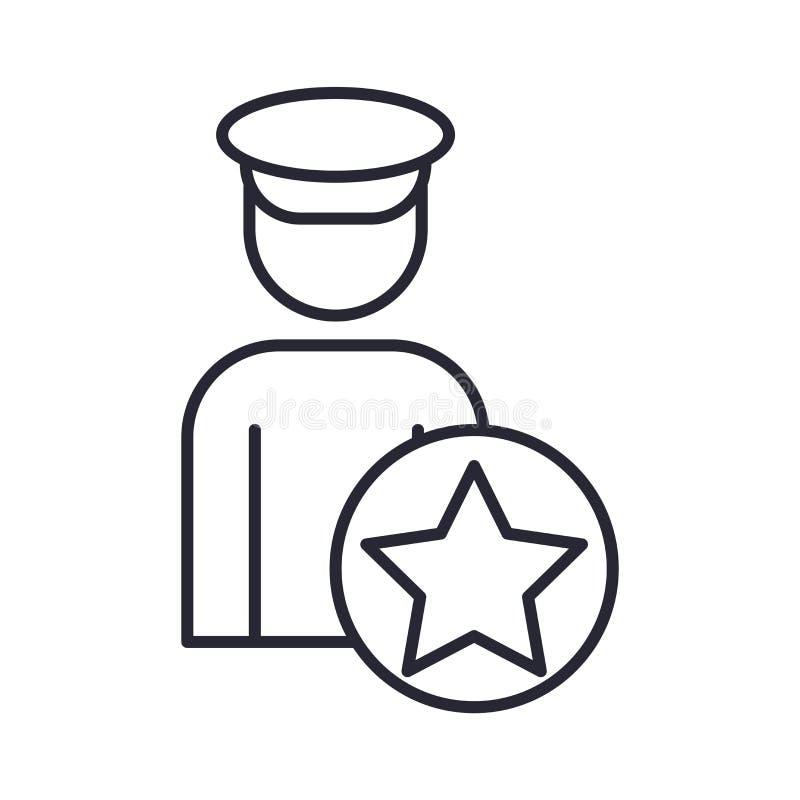 Tecken och symbol för polissymbolsvektor som isoleras på vit bakgrund, polislogobegrepp vektor illustrationer