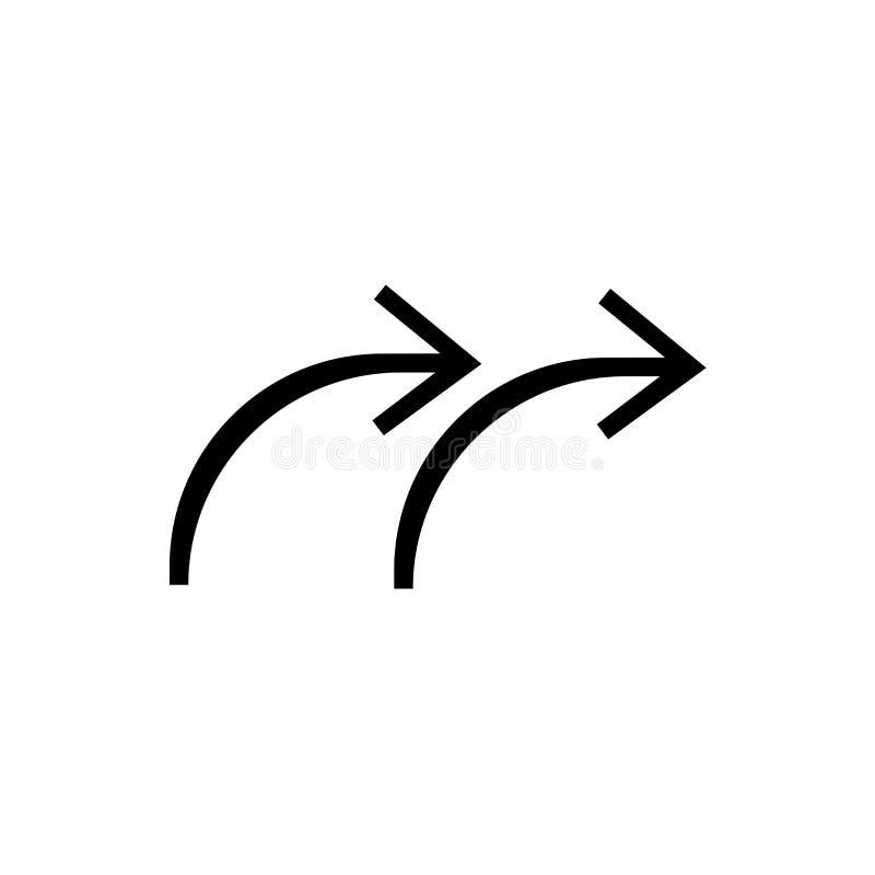 Tecken och symbol för repetitionsymbolsvektor som isoleras på vit bakgrund, repetitionlogobegrepp stock illustrationer