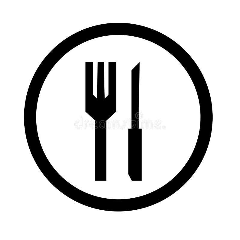 Tecken och symbol för restaurangsymbolsvektor som isoleras på vit bakgrund, restauranglogobegrepp vektor illustrationer