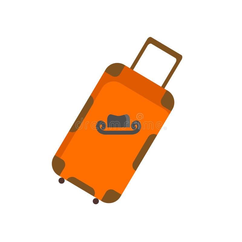 Tecken och symbol för resväskasymbolsvektor som isoleras på vit bakgrund, resväskalogobegrepp vektor illustrationer