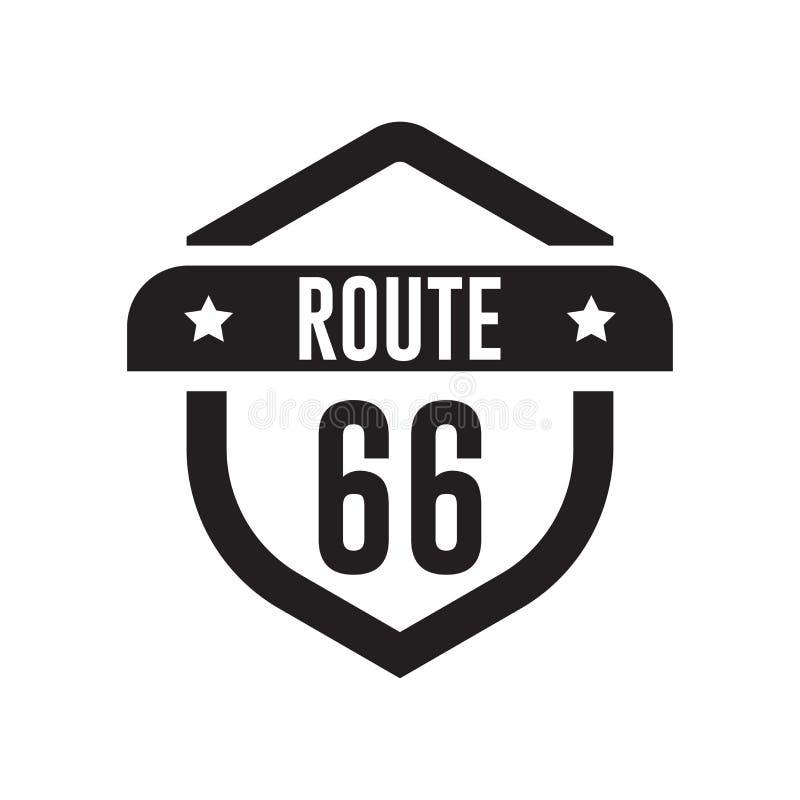 Tecken och symbol för Route 66 symbolsvektor som isoleras på vit backgroun vektor illustrationer