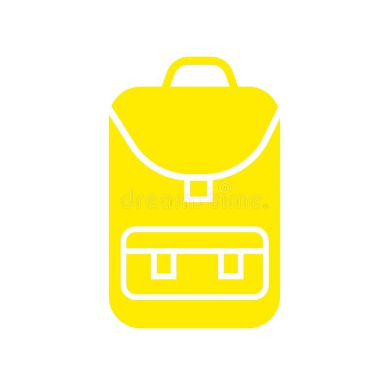 Tecken och symbol för ryggsäcksymbolsvektor som isoleras på vit bakgrund, ryggsäcklogobegrepp vektor illustrationer