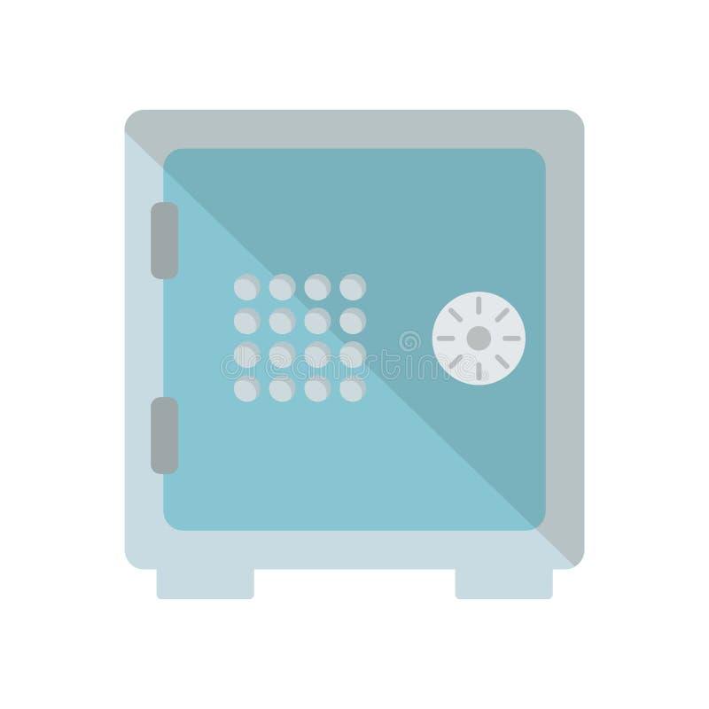 Tecken och symbol för Safebox symbolsvektor som isoleras på vit bakgrund vektor illustrationer