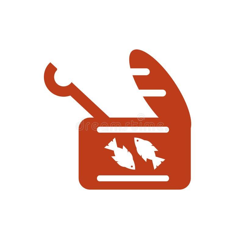 Tecken och symbol för sardinsymbolsvektor som isoleras på vit bakgrund vektor illustrationer