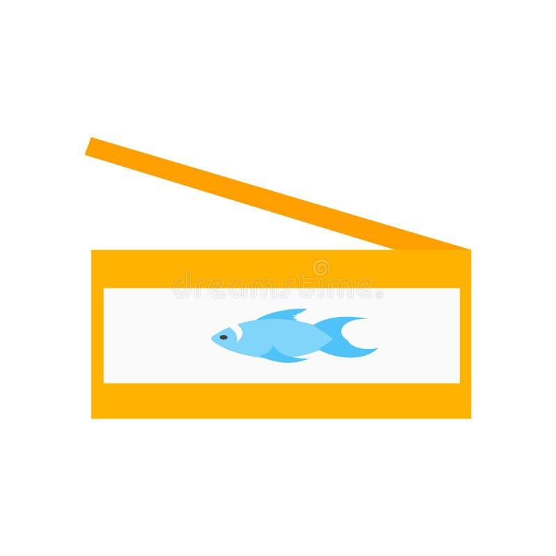 Tecken och symbol för sardinsymbolsvektor som isoleras på vit bakgrund, sardinlogobegrepp royaltyfri illustrationer