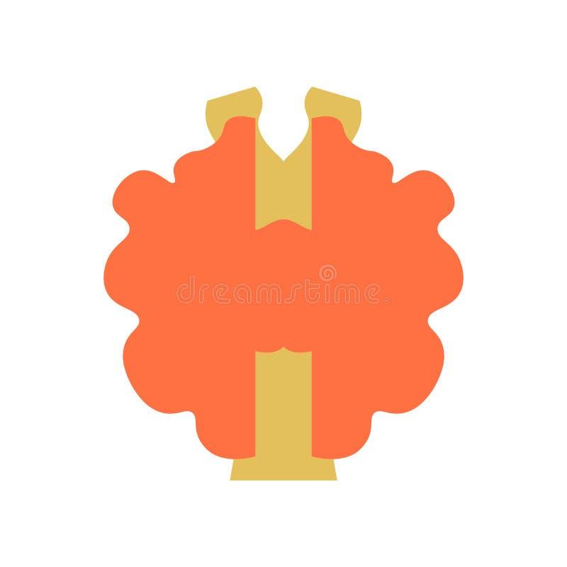 Tecken och symbol för sköldkörtelsymbolsvektor som isoleras på vitbaksida stock illustrationer
