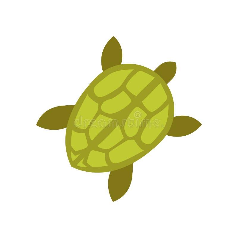 Tecken och symbol för sköldpaddasymbolsvektor som isoleras på vit bakgrund, sköldpaddalogobegrepp stock illustrationer