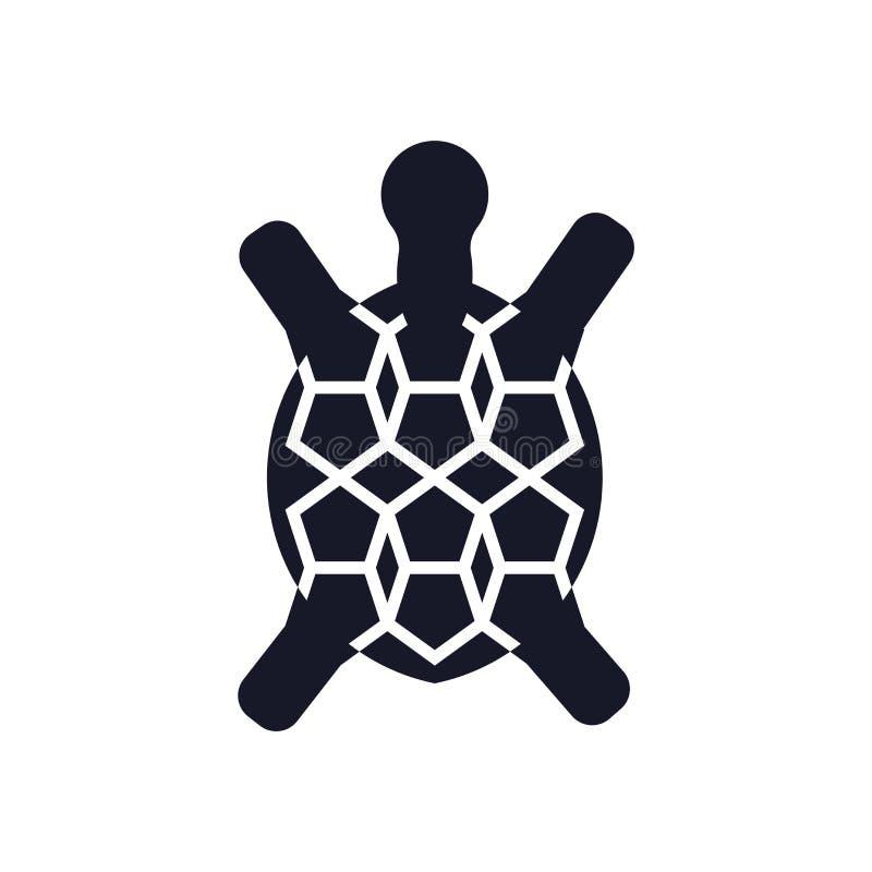 Tecken och symbol för sköldpaddasymbolsvektor som isoleras på vit bakgrund, sköldpaddalogobegrepp vektor illustrationer