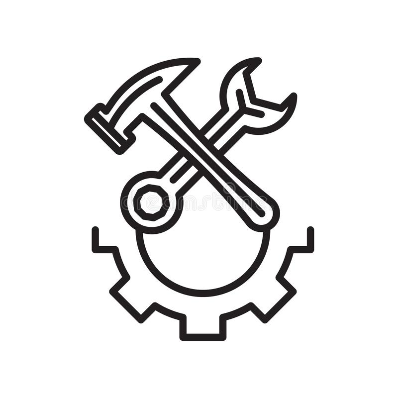 Tecken och symbol för skadeståndsymbolsvektor som isoleras på den vita backgroen vektor illustrationer