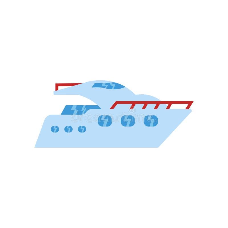 Tecken och symbol för skeppsymbolsvektor som isoleras på vit bakgrund, skepplogobegrepp vektor illustrationer