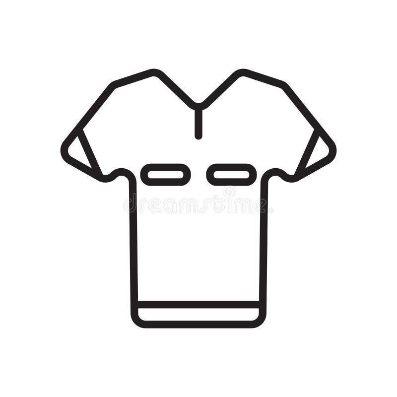 Tecken och symbol för skjortasymbolsvektor som isoleras på vit bakgrund, skjortalogobegrepp vektor illustrationer