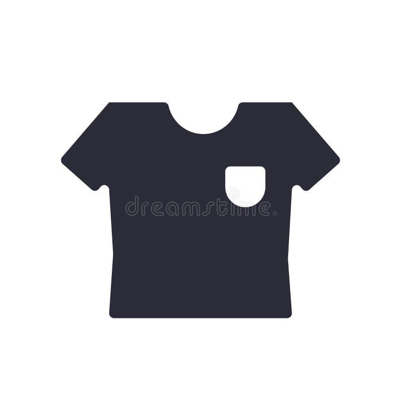 Tecken och symbol för skjortasymbolsvektor som isoleras på vit bakgrund, skjortalogobegrepp royaltyfri illustrationer