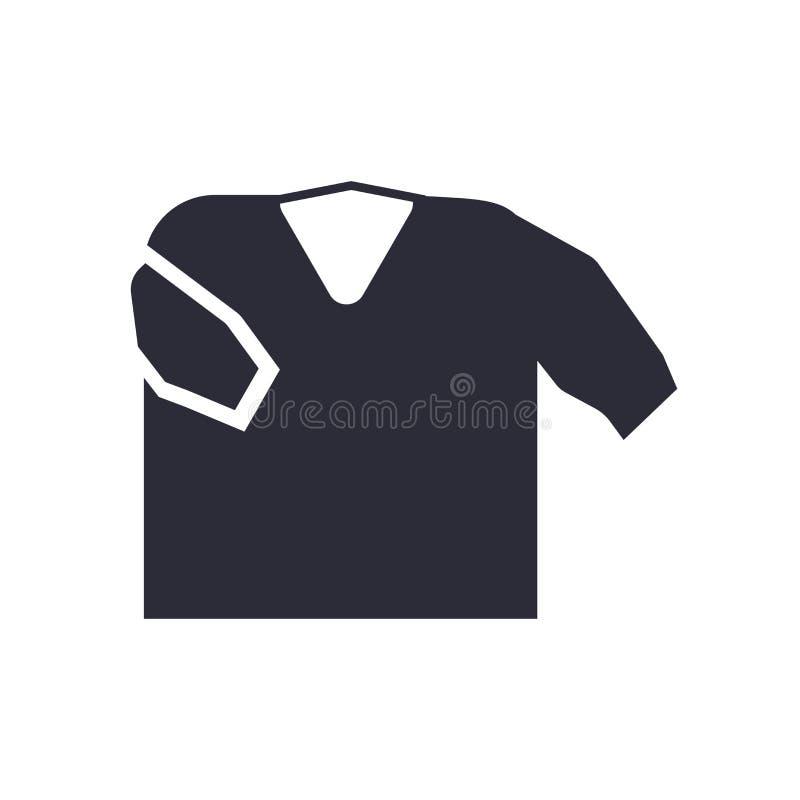Tecken och symbol för skjortasymbolsvektor som isoleras på vit bakgrund, skjortalogobegrepp stock illustrationer