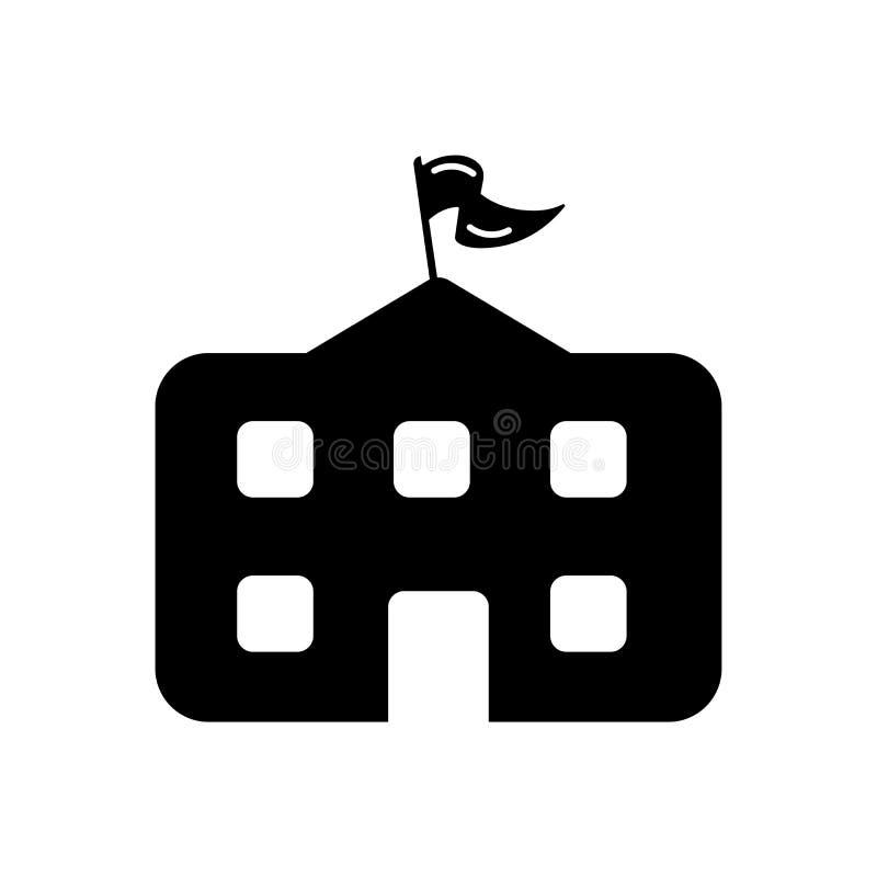 Tecken och symbol för skolasymbolsvektor som isoleras på vit bakgrund royaltyfri illustrationer