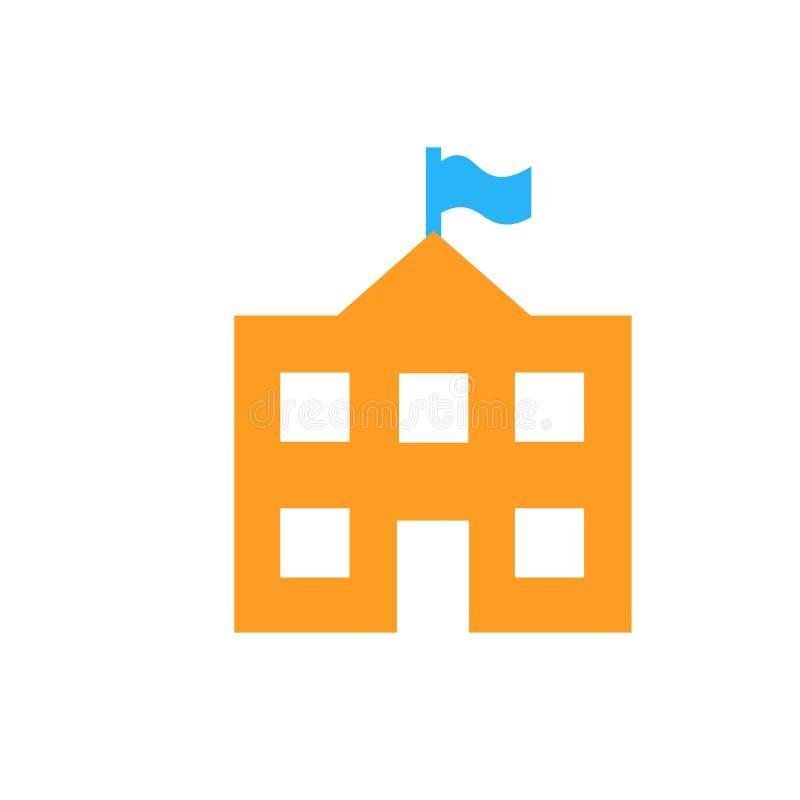 Tecken och symbol för skolasymbolsvektor som isoleras på vit bakgrund vektor illustrationer
