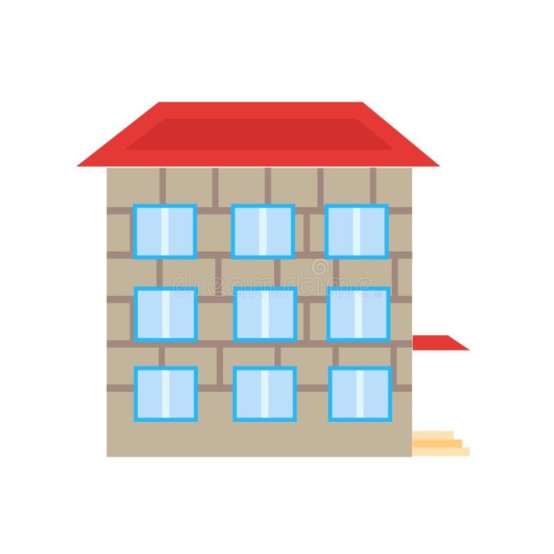Tecken och symbol för skolasymbolsvektor som isoleras på vit bakgrund, skolalogobegrepp royaltyfri illustrationer
