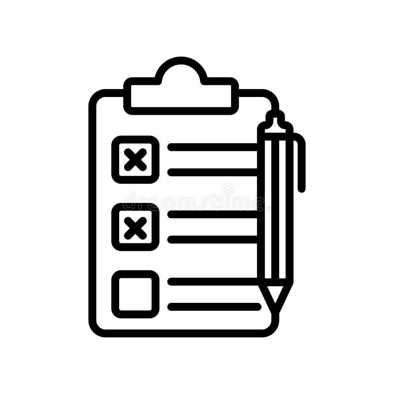 Tecken och symbol för skrivplattasymbolsvektor som isoleras på den vita backgrouen vektor illustrationer