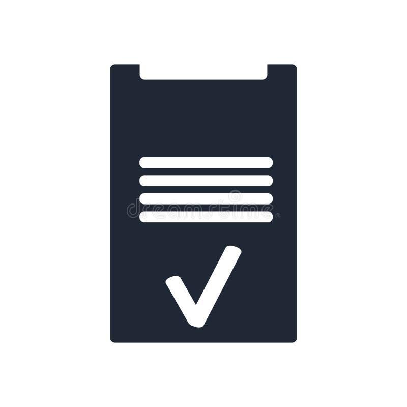 Tecken och symbol för skrivplattasymbolsvektor som isoleras på den vita backgrouen stock illustrationer
