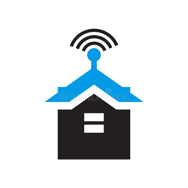 Tecken och symbol för Smarthome symbolsvektor som isoleras på vit bakgrund, Smarthome logobegrepp vektor illustrationer
