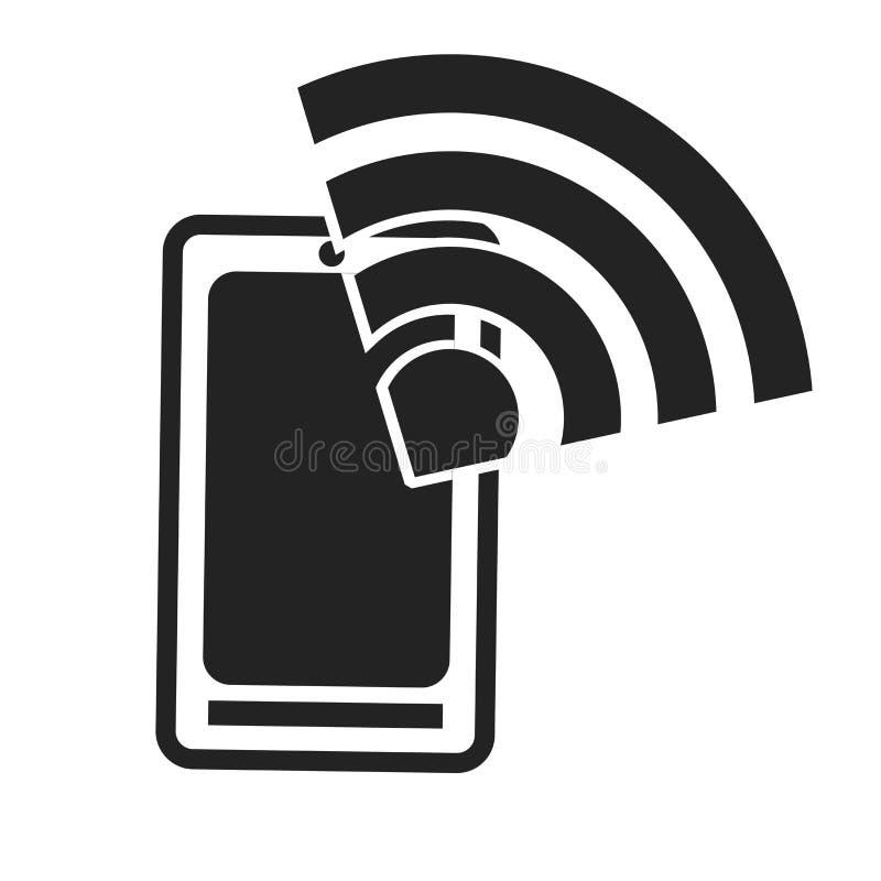 Tecken och symbol för Smartphone symbolsvektor som isoleras på vit bakgrund, Smartphone logobegrepp vektor illustrationer
