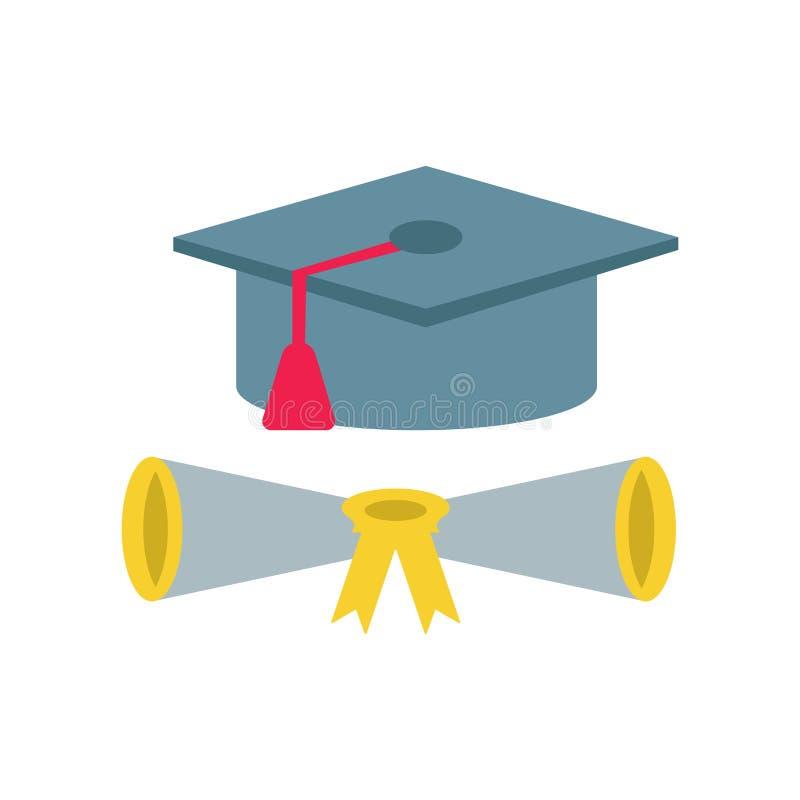 Tecken och symbol för stipendiumsymbolsvektor som isoleras på vit backgr vektor illustrationer