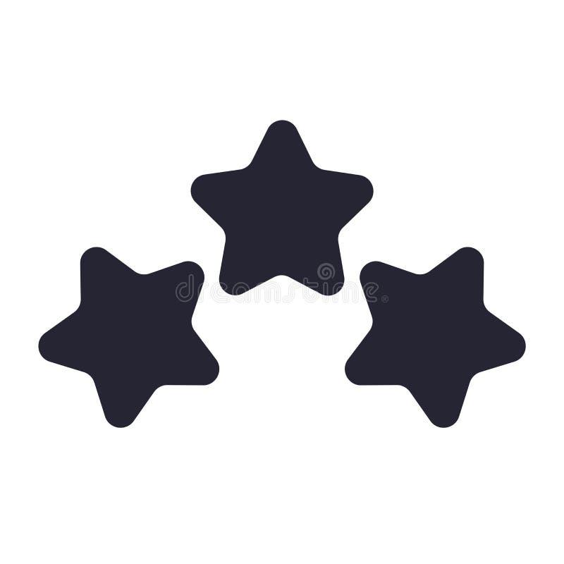 Tecken och symbol för stjärnasymbolsvektor som isoleras på vit bakgrund, stjärnalogobegrepp stock illustrationer