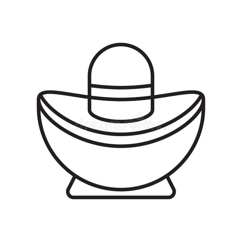 Tecken och symbol för Sycee symbolsvektor som isoleras på vit bakgrund stock illustrationer