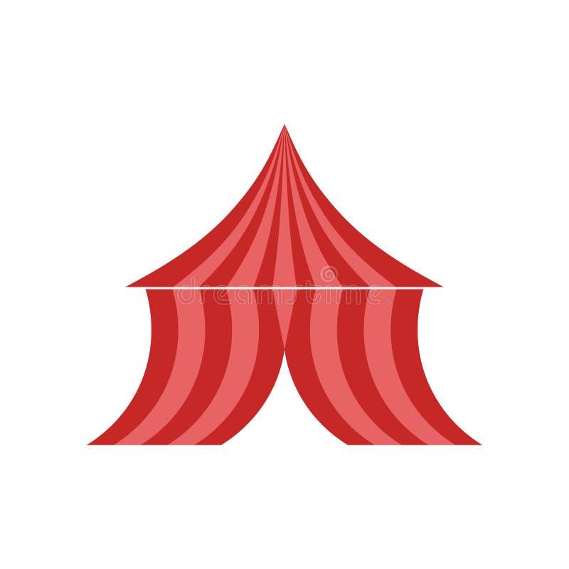 Tecken och symbol för tältsymbolsvektor som isoleras på vit bakgrund, tältlogobegrepp stock illustrationer