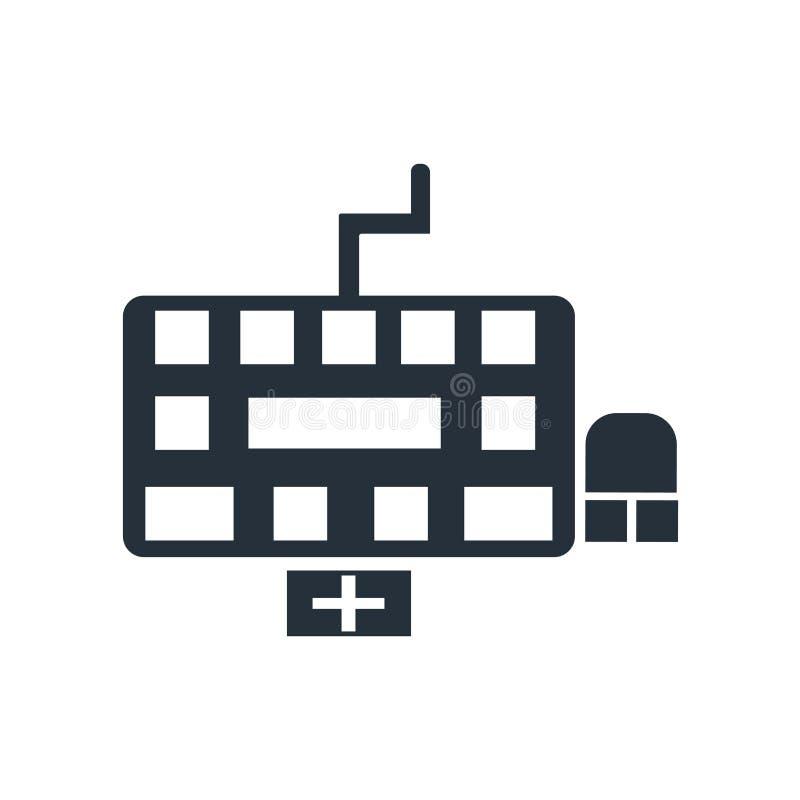 Tecken och symbol för tangentbordsymbolsvektor som isoleras på vit bakgrund, tangentbordlogobegrepp vektor illustrationer