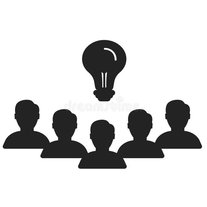 Tecken och symbol för teamworksymbolsvektor som isoleras på vit bakgrund, teamworklogobegrepp vektor illustrationer