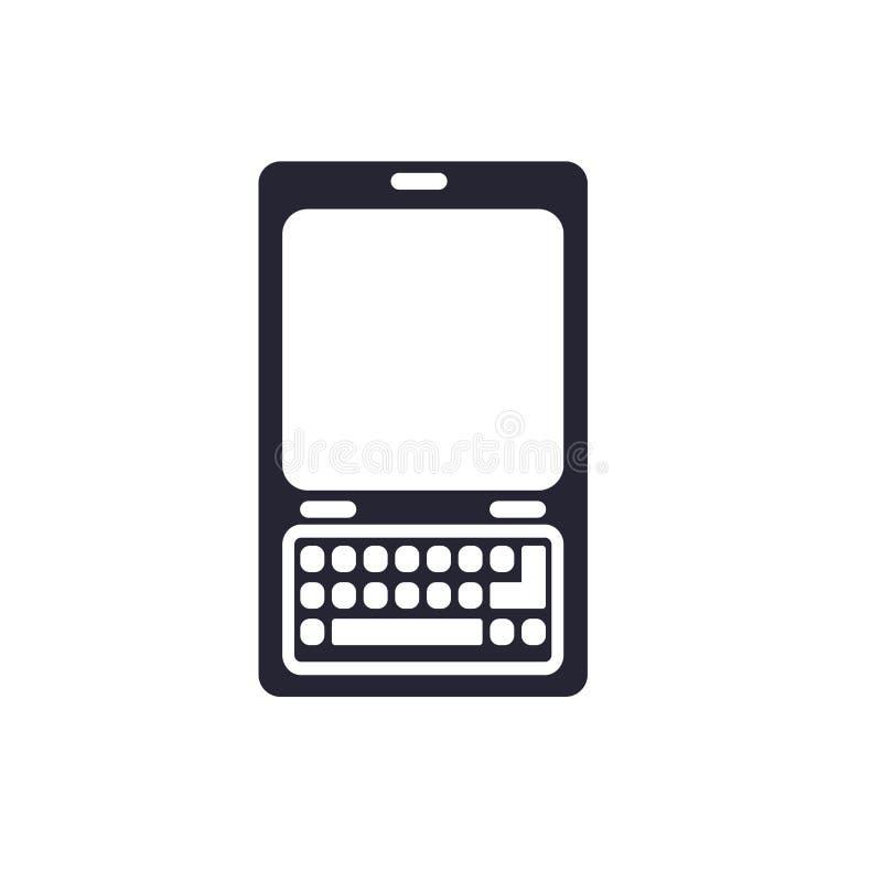 Tecken och symbol för telefonsymbolsvektor som isoleras på vit bakgrund, telefonlogobegrepp vektor illustrationer