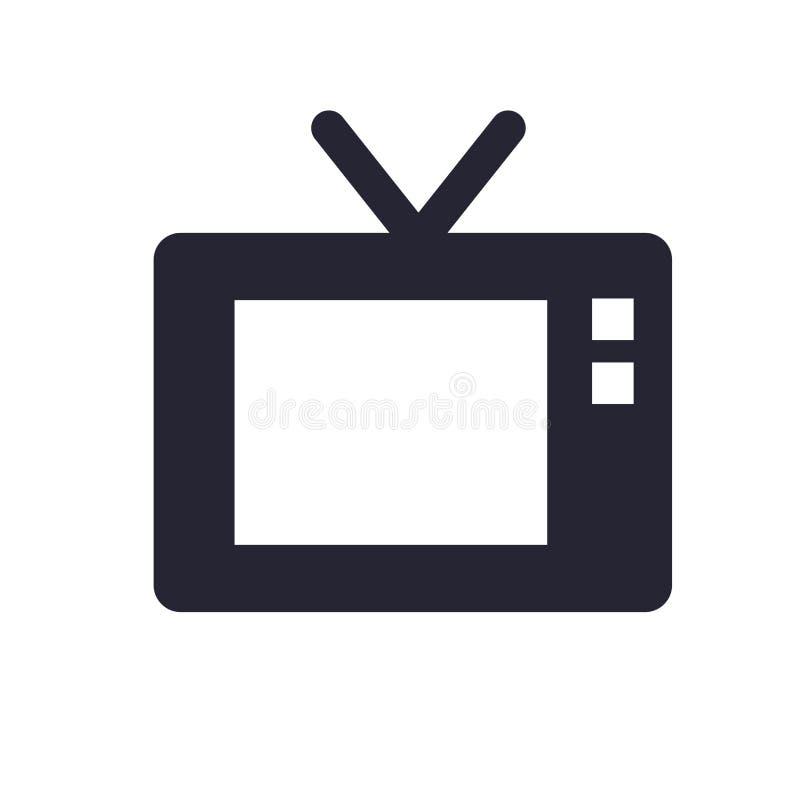 Tecken och symbol för televisionsymbolsvektor som isoleras på vit bakgrund, televisionlogobegrepp vektor illustrationer