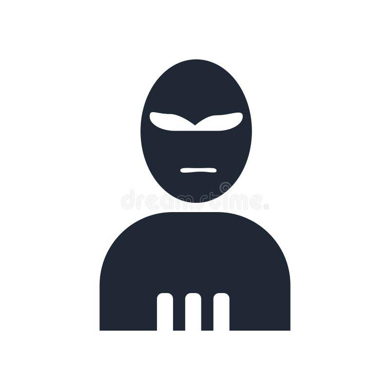 Tecken och symbol för terroristsymbolsvektor som isoleras på den vita backgrouen vektor illustrationer