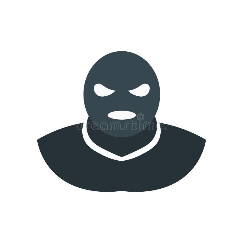 Tecken och symbol för terroristsymbolsvektor som isoleras på vit bakgrund, terroristlogobegrepp royaltyfri illustrationer