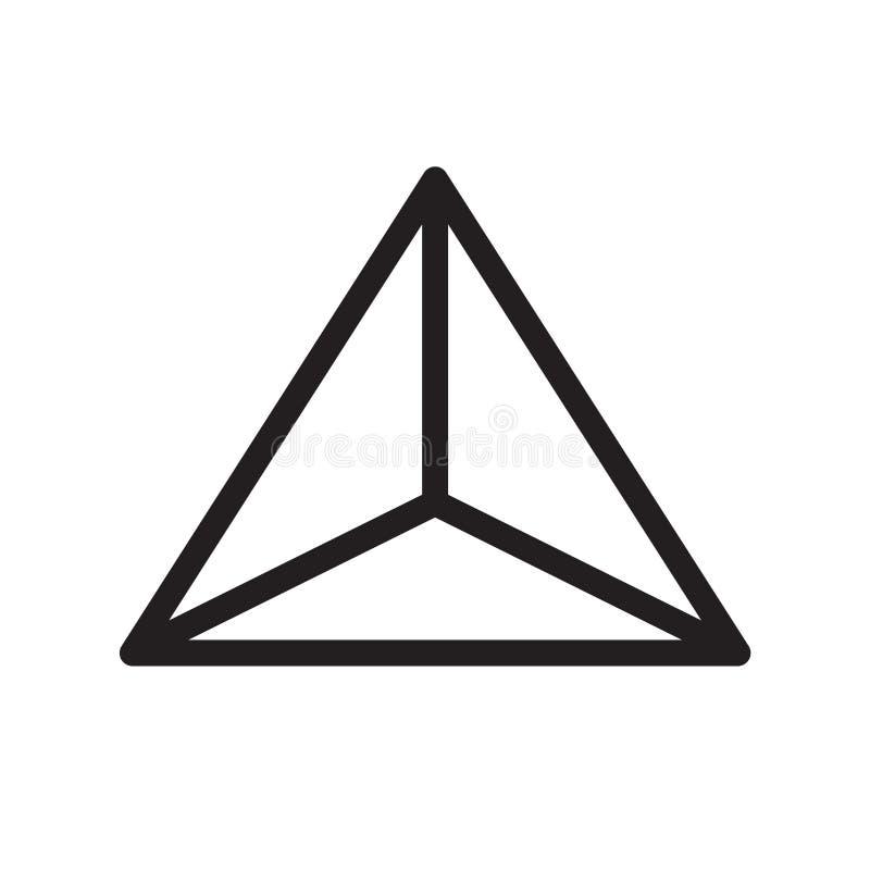 Tecken och symbol för Tetrahedronsymbolsvektor som isoleras på vit backgr vektor illustrationer