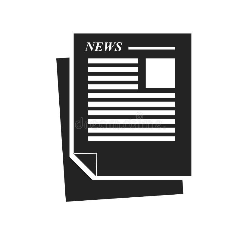 Tecken och symbol för tidningssymbolsvektor som isoleras på vit bakgrund, tidningslogobegrepp royaltyfri illustrationer