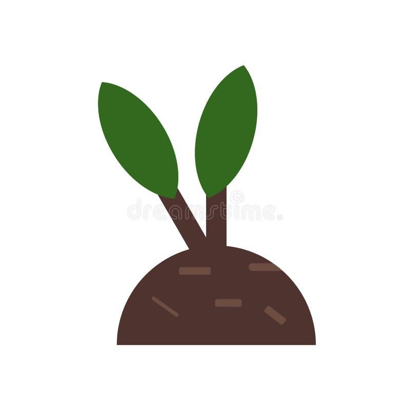 Tecken och symbol för tillväxtsymbolsvektor som isoleras på vit bakgrund, tillväxtlogobegrepp royaltyfri illustrationer