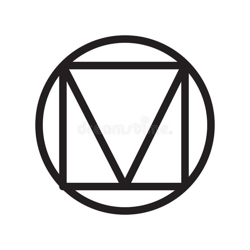 Tecken och symbol för triangelsymbolsvektor som isoleras på vit backgroun stock illustrationer