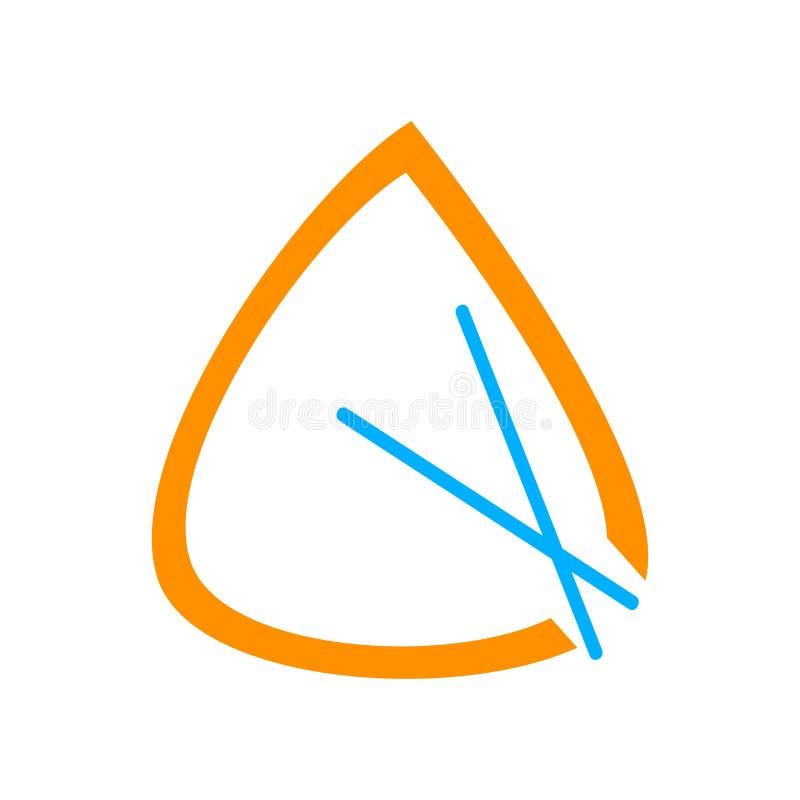 Tecken och symbol för triangelsymbolsvektor som isoleras på vit backgroun vektor illustrationer