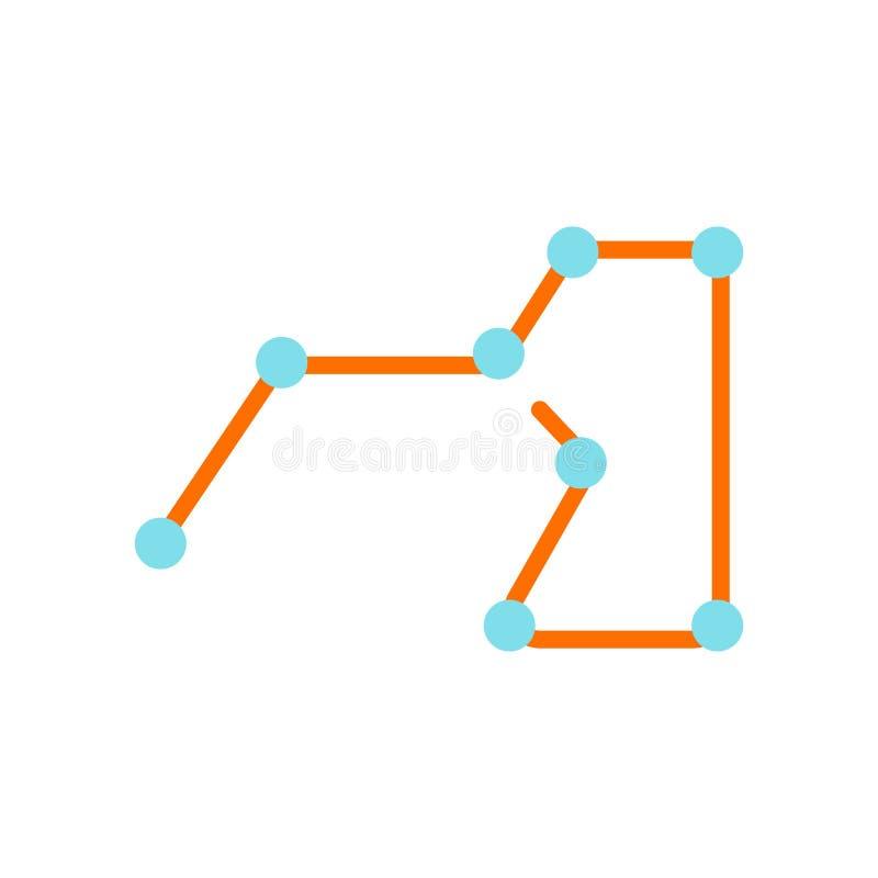 Tecken och symbol för Ursa viktigt symbolsvektor som isoleras på vit bakgrund, Ursa viktigt logobegrepp stock illustrationer