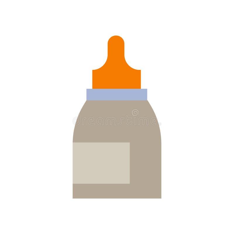 Tecken och symbol för vektor för symbol för ögondroppar som isoleras på den vita backgrouen vektor illustrationer