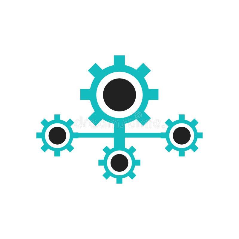 Tecken och symbol för vektor för symbol för symbol för användareinställningsmanöverenhet som isoleras på vit bakgrund, begrepp fö stock illustrationer