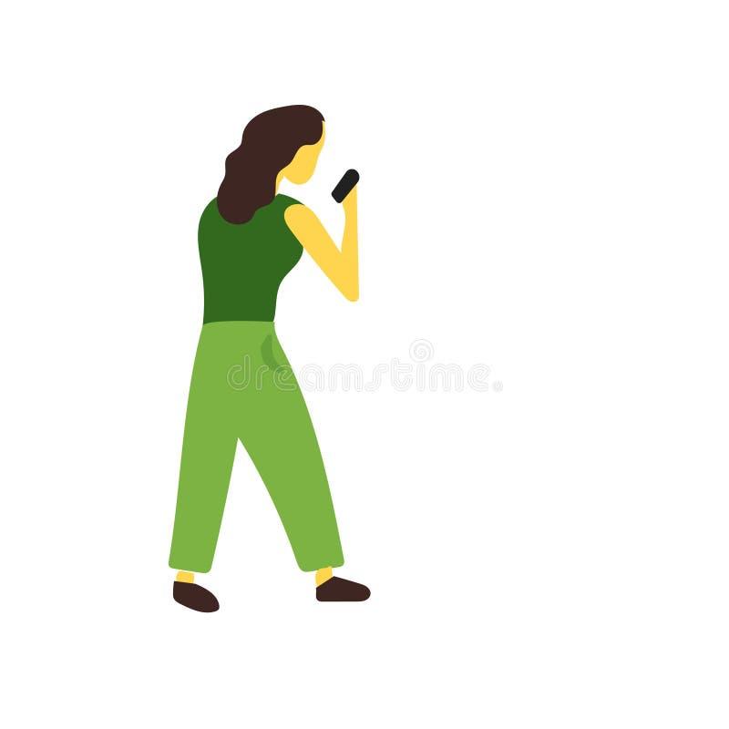 Tecken och symbol för vektor för boxareflickavektor som isoleras på vit bakgrund, begrepp för logo för boxareflickavektor stock illustrationer