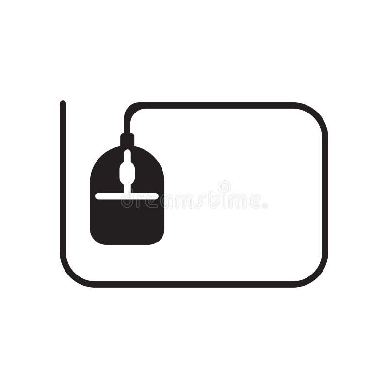 Tecken och symbol för vektor för datormussymbol som isoleras på vitbac stock illustrationer