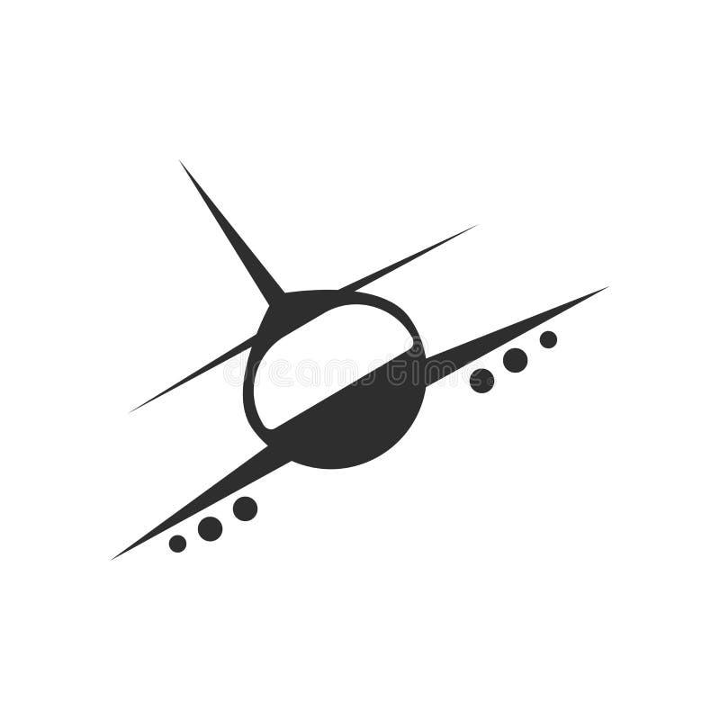 Tecken och symbol för vektor för flygplanflygsymbol som isoleras på vit bakgrund, begrepp för flygplanflyglogo royaltyfri fotografi