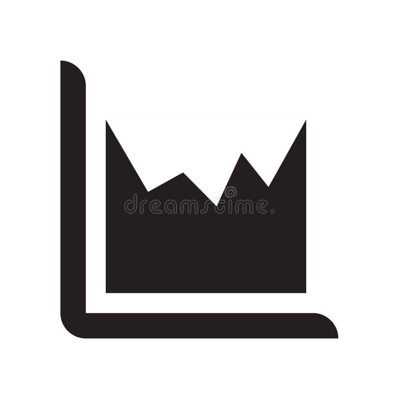 Tecken och symbol för vektor för grov spikdiagramsymbol som isoleras på vit backgr royaltyfri illustrationer