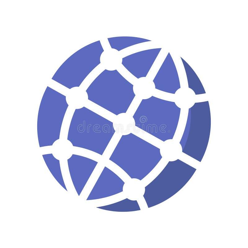 Tecken och symbol för vektor för jordjordklotsymbol som isoleras på vit bakgrund, begrepp för jordjordklotlogo vektor illustrationer
