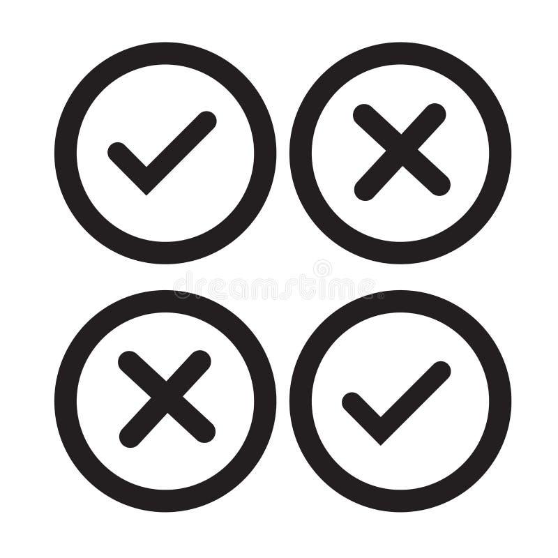 Tecken och symbol för vektor för symbol för kontrolllista som isoleras på den vita backgroen royaltyfri illustrationer