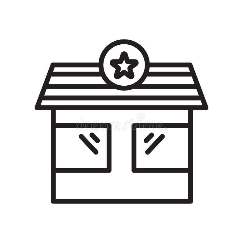 Tecken och symbol för vektor för symbol för kontrollpunkt som isoleras på vit bakgrund, begrepp för logo för kontrollpunkt, övers royaltyfri illustrationer